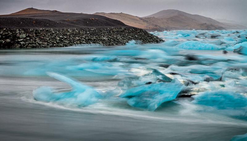 Jökulsárlón Iceberg Pileup