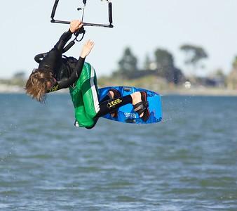 Chch random kiteboarding - 09/09/07