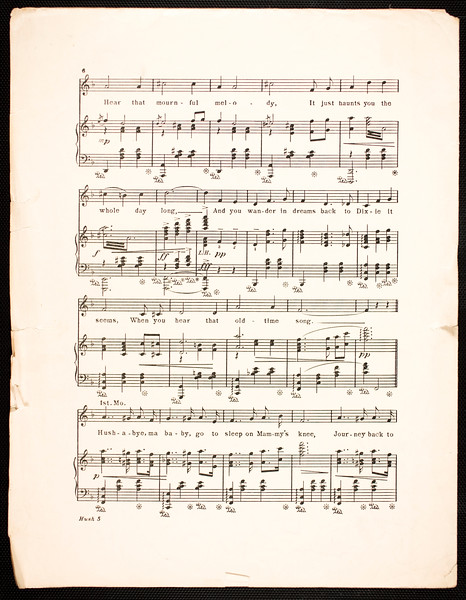 Hush-a-bye, ma baby (The Missouri waltz): song