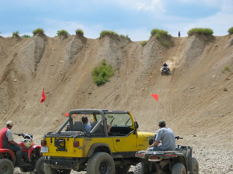 Steep sand dunes
