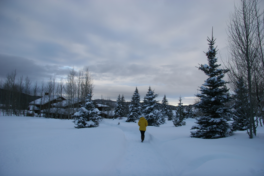 . An evening walk between the cabins and the lodge at Vista Verde. (Photo by Kyle Wagner)