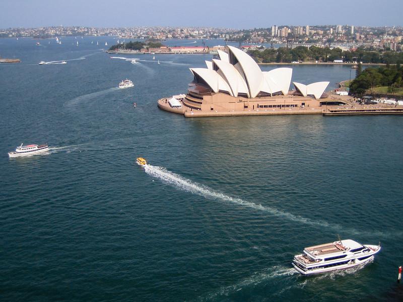 Sydney Opera House taken from Sydney Harbour Bridge, Australia 2006