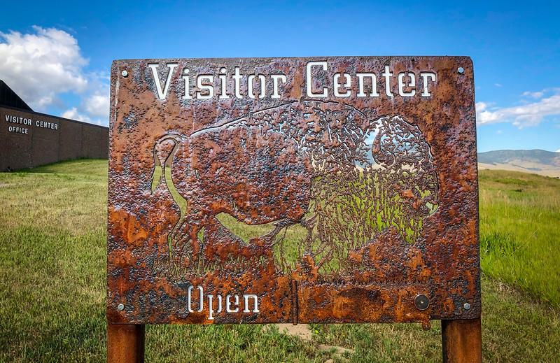 Visitor Center Sign