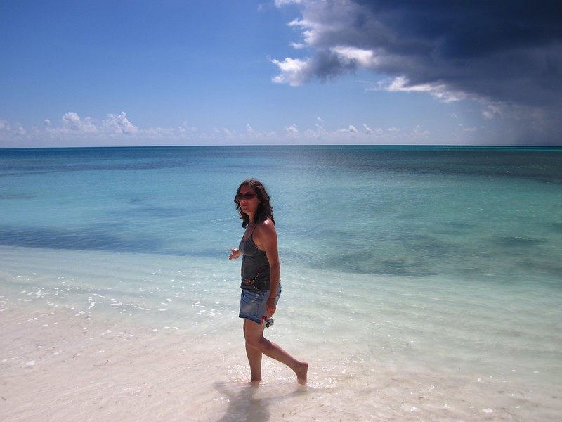 The beach at the southernmost point of Long Island, Bahamas