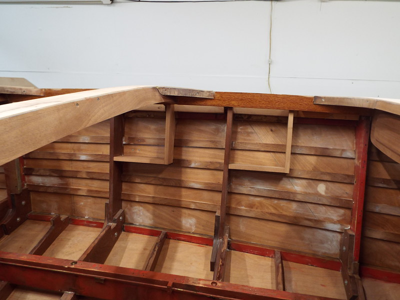 Port side storage compartments built and installed.