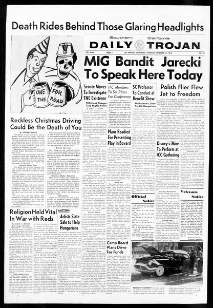 Daily Trojan, Vol. 48, No. 58, December 13, 1956