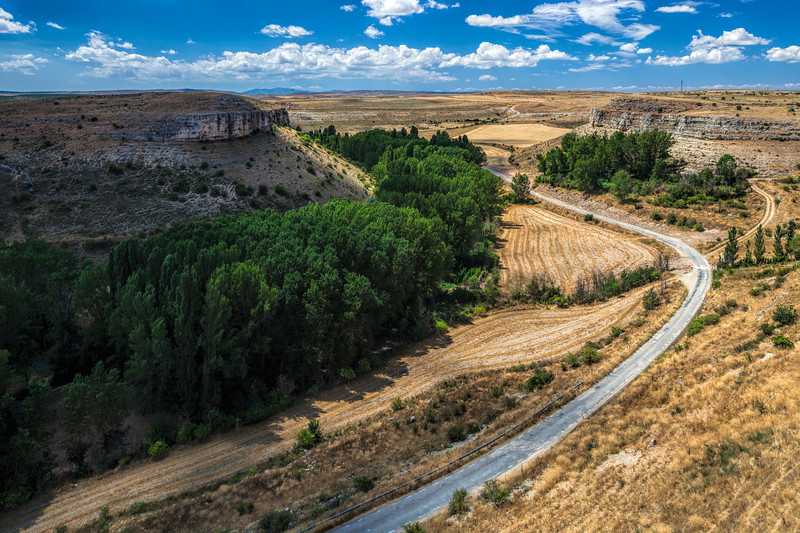 View from the fortified town of Rello, province of Soria, Spain