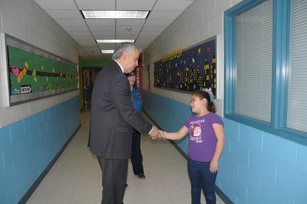 Dr. Cavazos Visits Classrooms