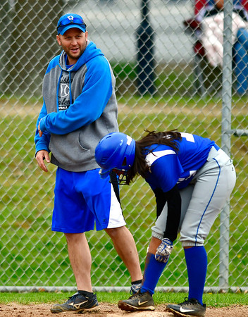 5/1/2019 Mike Orazzi | Staff Bristol Eastern's Scott Redman during Wednesday's softball game with Bristol Central at Casey Field.