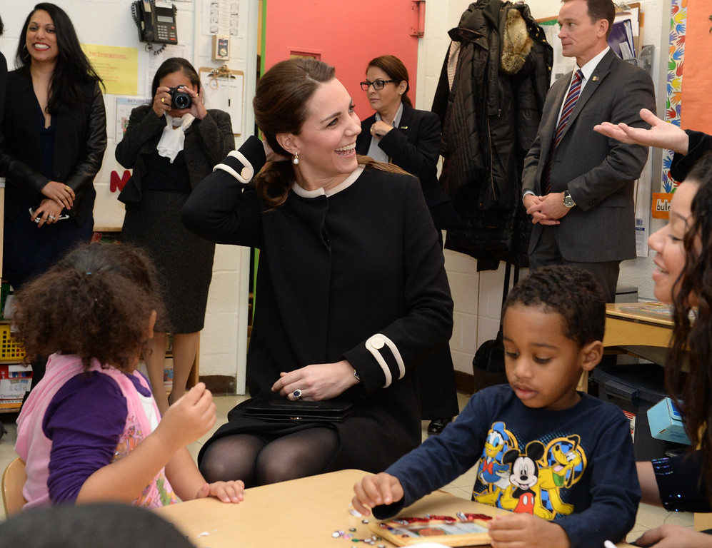 . Catherine, Duchess of Cambridge during a visit to the Northside Center for Child Development on December 8, 2014 in New York City. The royal couple are on an official three-day visit to New York with Prince William also due to meet President Barack Obama in Washington D.C today.  (Photo by Mark Stewart - Pool/Getty Images)
