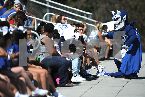 9/23/2017 Mike Orazzi   Staff The CCSU Blue Devil Mascot during Saturday's football game with Walsh University in New Britain.