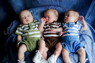 Jacob, Micah, Noah--3 Months