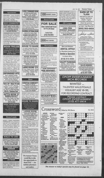Summer Trojan, Vol. 131, No. 10, July 16, 1997