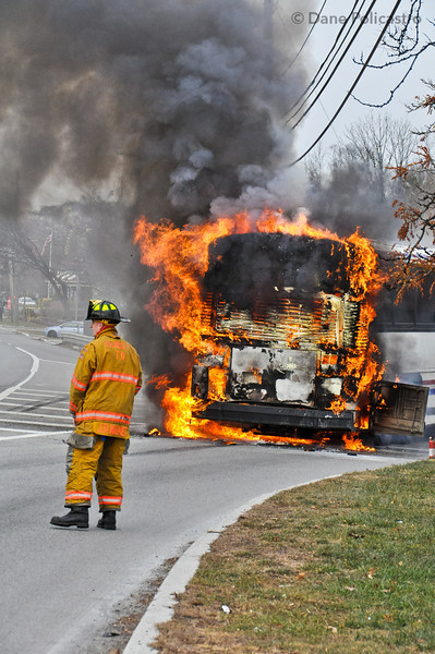 11-30-2012 Ramsey, NJ Motor Vehicle Fire:  State Highway 17 at Lake Street