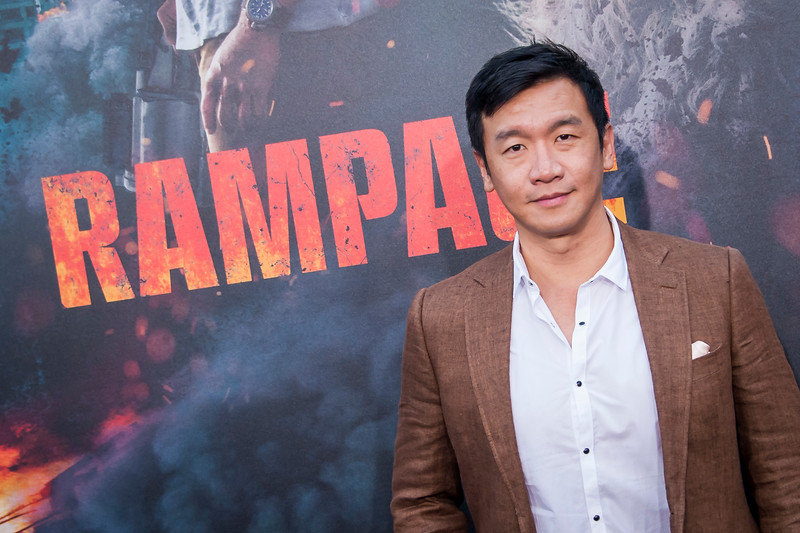 LOS ANGELES, CA - APRIL 04: Chin Han arrives at the Premiere Of Warner Bros. Pictures' 'Rampage' at Microsoft Theater on Wednesday April 4, 2018 in Los Angeles, California. (Photo by Tom Sorensen/Moovieboy Pictures)