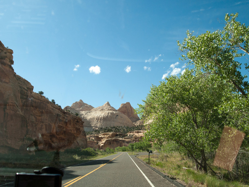 Capitol Reef National Park just east of the old town of Fruitia