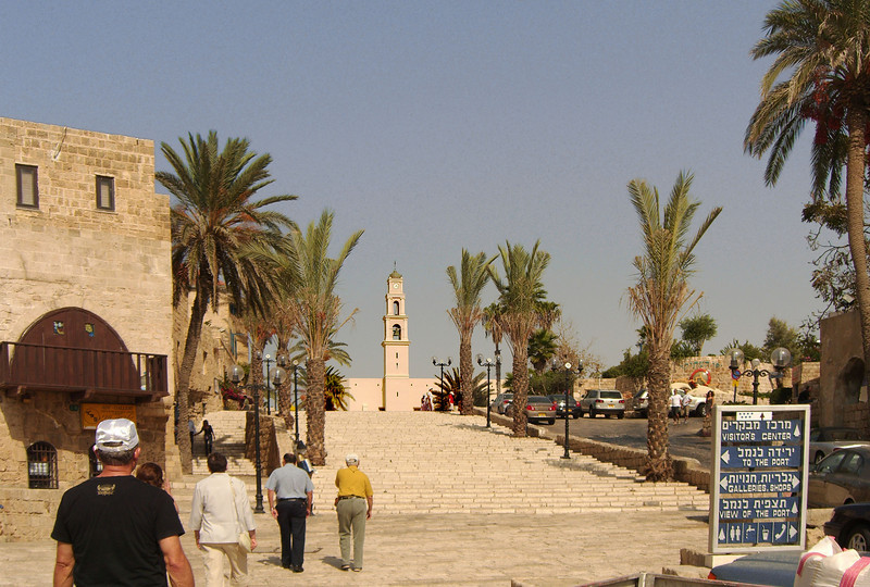31-The 19th century campanile of San Peters church looks over the main square. Jaffa became part of the Tel Aviv municipality in 1954.