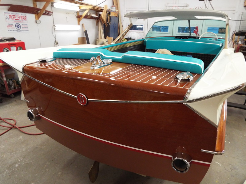 Rear view of the transom with all the seats installed.