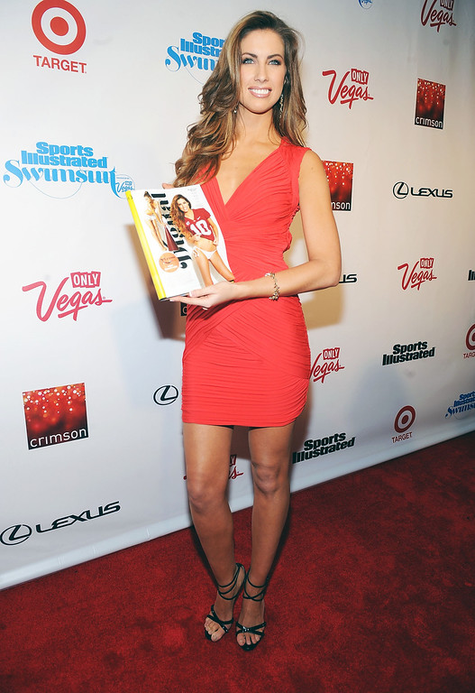 . Model Katherine Webb attends the 2013 Sports Illustrated Swimsuit issue launch party at Crimson on Tuesday, Feb. 12, 2013 in New York .(Photo by Brad Barket/Invision/AP)