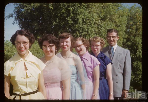 1953 high school grads - Charles Spencer principal.  Aneroid. 06/12/1953