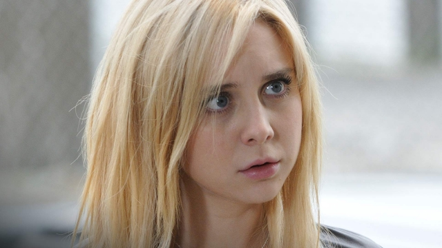 ". Caprica\'s Alessandra Torresani as a tormented young woman in episode 309, ""Shadows.\"" SyFy"