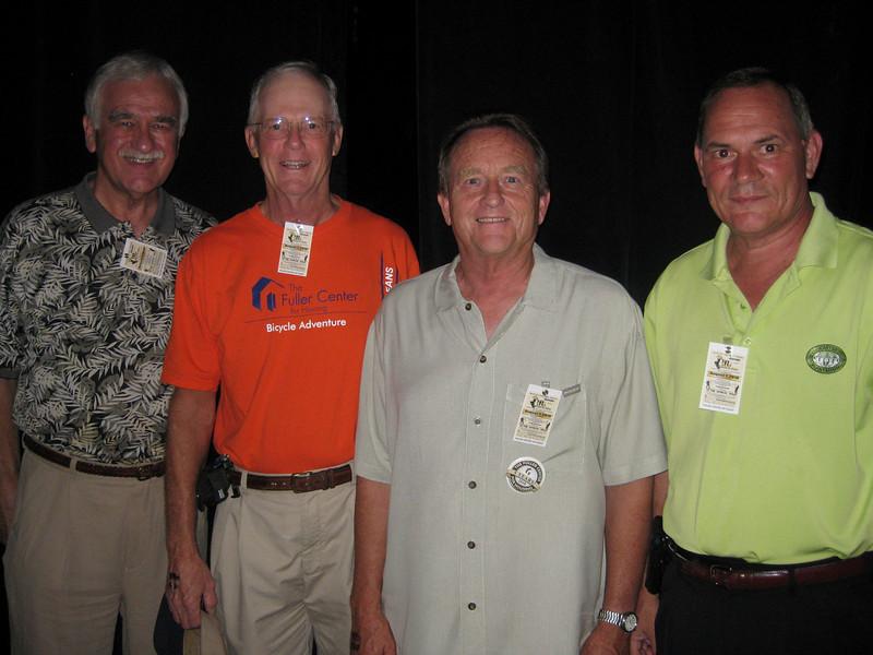 2010 08-07 L-R: David Ewing, Dave Steere (rider in '09 & '10), David Snell, David Danel at Fuller Center fundraiser in New Orleans. je
