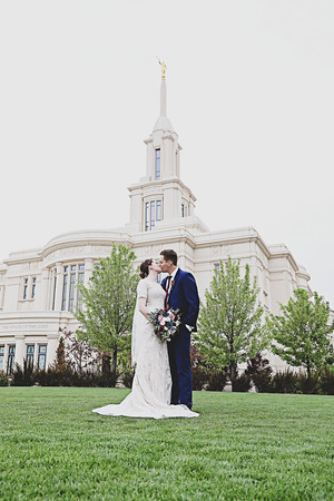 Chris and Mari's Sealing Payson Temple