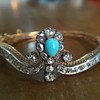 2.65ctw Victorian Turquoise and Rose Cut Diamond Tiara Bangle 5