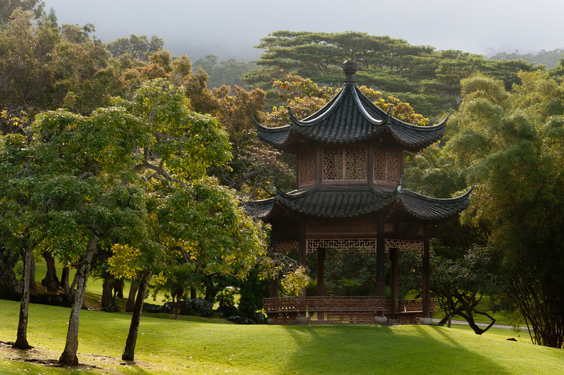 Japanese temple in Four Seasons Resort, Lanai, Hawaii