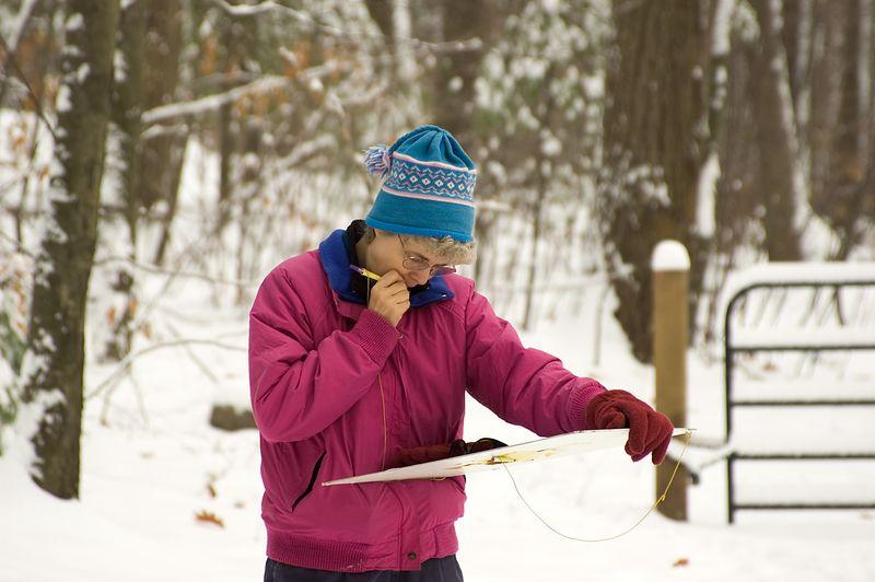 Joanne Sankus checks the master map   (Nov 13, 2004, 11:01am)