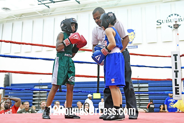 Bout #3:  David Webb, Blue Gloves, Toledo vs Rayshun Mckinley, Red Gloves, Akron, 75 Lbs