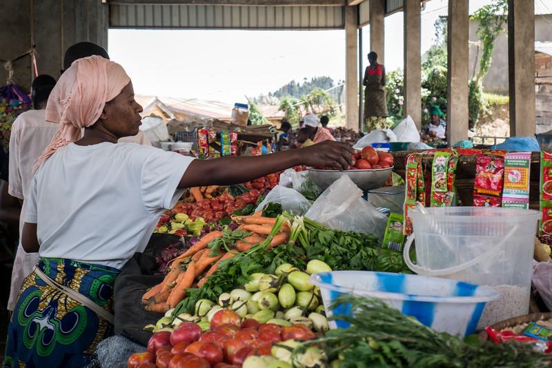 Local market in Kibuye, Rwanda