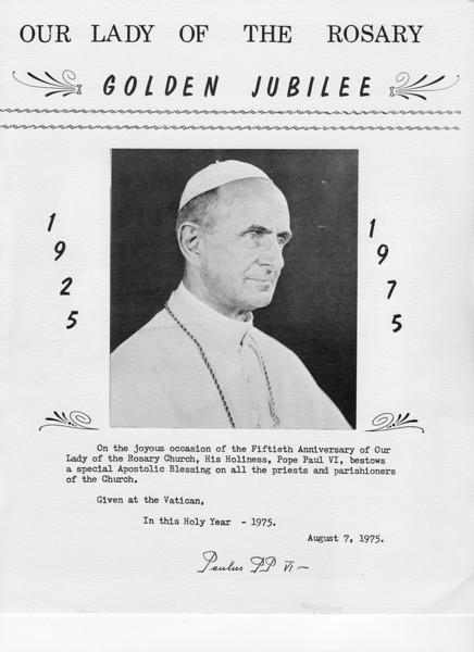 1975 Golden Jubilee Program