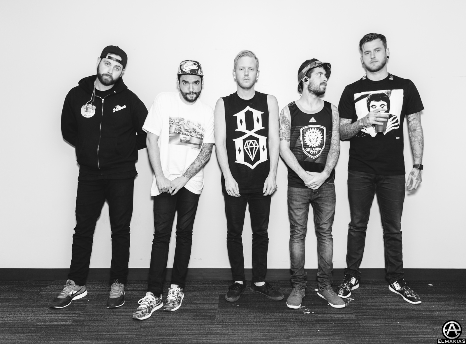 A Day To Remember backstage at Summerfest in Milwaukee, WI