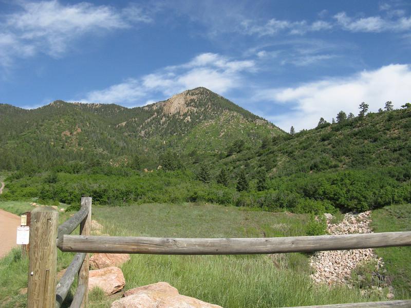 OK, Blodgett Pk as seen from the Open Space Trailhead on Woodmen.