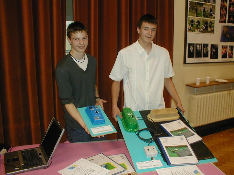 Winners of design comp - Ben and Daniel