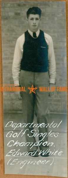 GOLF Departmental Singles Champions  Engineers  Edward White