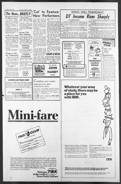 Daily Trojan, Vol. 58, No. 86, March 09, 1967