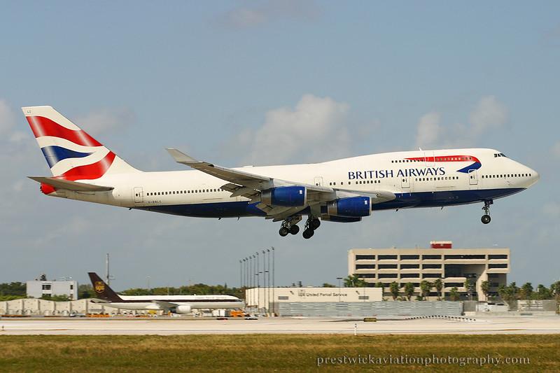 G-BNLC. Boeing 747-436. British Airways. Miami. 030304.