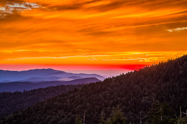 August 22 2016 Clingman's Dome sunset.