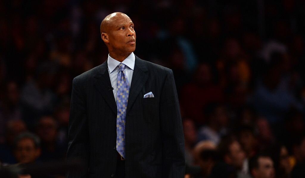 . Lakers� coach Byron Scott during their NBA game against the Bulls at the Staples Center in Los Angeles, Thursday, January 28, 2016. After overseeing the Lakers� finish with their worst record in franchise history for two consecutive years, Scott will not coach the team in the 2016-17 season, sources said on Sunday night.  (Photo by Hans Gutknecht/Los Angeles Daily News)
