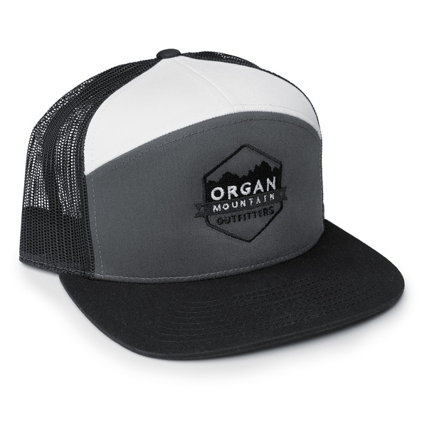 Organ Mountain Outfitters - Outdoor Apparel - Hat - 7 Panel Trucker Cap - Black Grey White.jpg