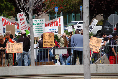 Couldn't get pictures of President Bush or Governor Schwarzenegger at Cisco so here's some protesters instead 2006.04.21