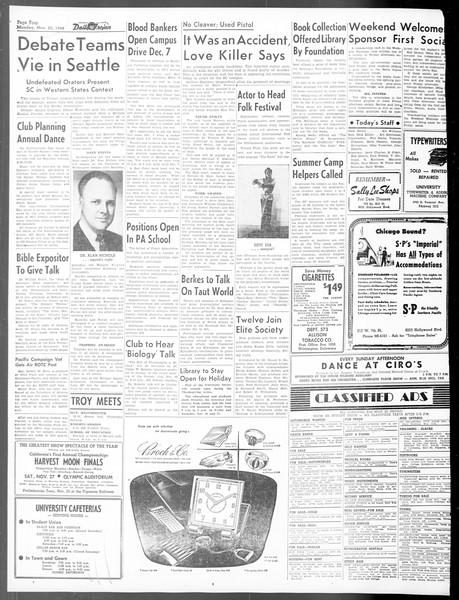 Daily Trojan, Vol. 40, No. 50, November 22, 1948