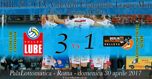 Bronze Medal: Cucine Lube Civitanova - Berlin Recycling Volleys