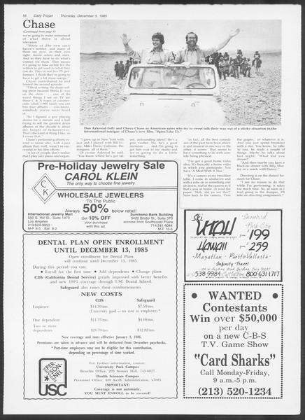 Daily Trojan, Vol. 100, No. 61, December 05, 1985