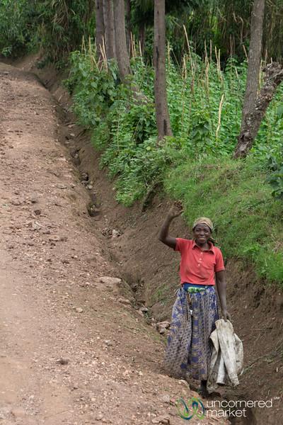 Driving Around Musanze, Friendly Wave - Rwanda
