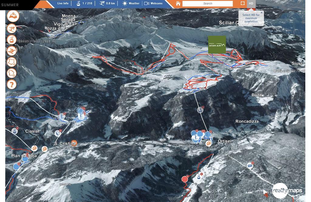 Mapas de pistas de Reallity Maps