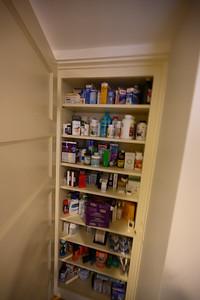 Medicine Closet outside second bathroom