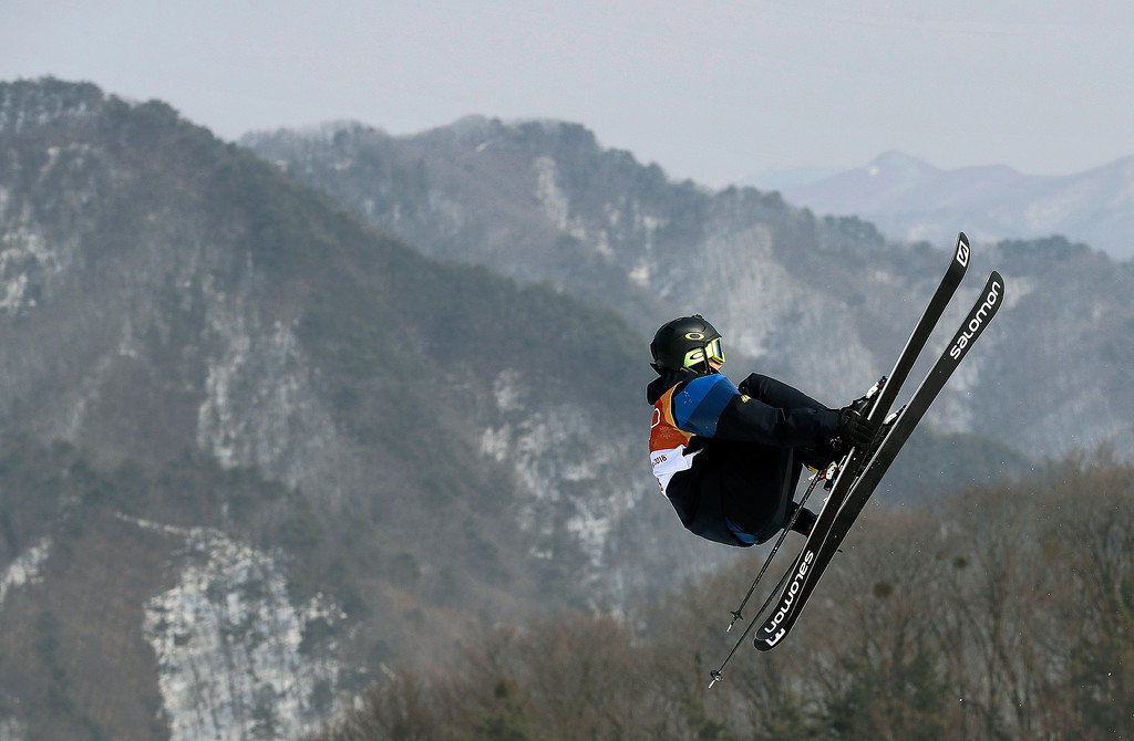. Oscar Wester, of Sweden, jumps during the men\'s slopestyle final at Phoenix Snow Park at the 2018 Winter Olympics in Pyeongchang, South Korea, Sunday, Feb. 18, 2018. (AP Photo/Kin Cheung)